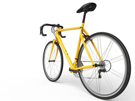 profesional: Yellow profesional sports bike - rear wheel focus Stock Photo