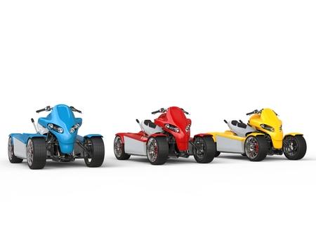 quad: Electric quad bikes - primary colors