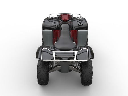 quad: Quad bike - black with red details Stock Photo