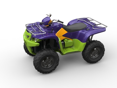 quad: Jazzy purple green quad bike