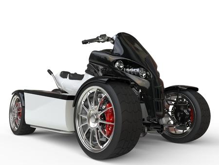 quad: Black and white electric quad bike