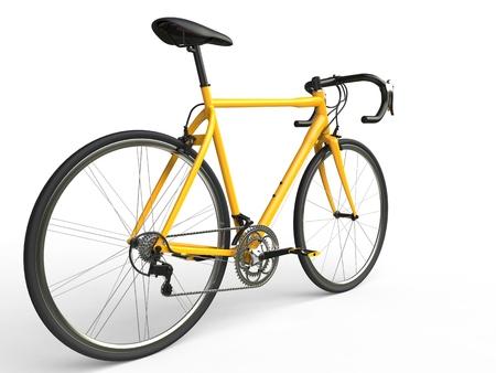 profesional: Yellow profesional sports bike Stock Photo