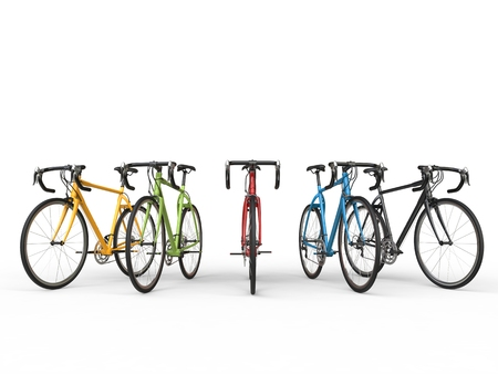 profesional: Set of colorful sports bicycles