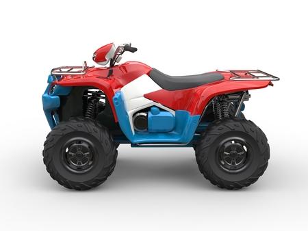 quad: Red white and blue quad bike