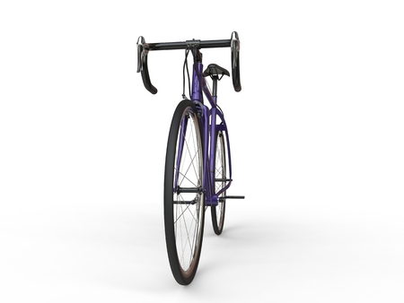 profesional: Metallic purple sports bike - front view Stock Photo