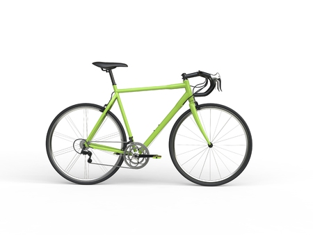 profesional: Awesome green sports bicycle - side view