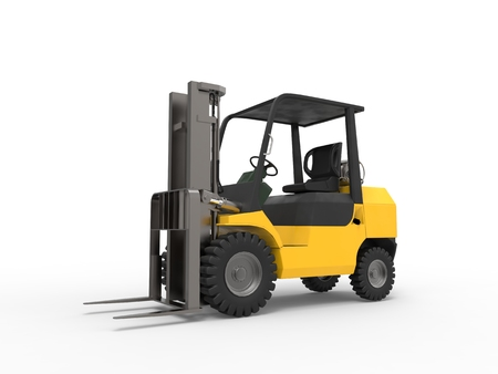 stockpile: Small yellow forklift truck Stock Photo