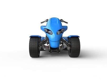 quad: Blue eco electric quad bike -  front view