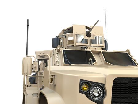 tactical: Light all terrain tactical military vehicle - closeup cut shot