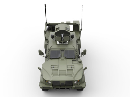 tactical: Tactical all terrain military vehicle - front top view