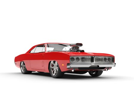 collectibles: Awesome red muscle car Stock Photo