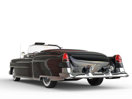 Retro vintage black car - back view closeup