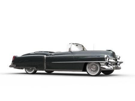 Cool slate grey retro vintage car - side view