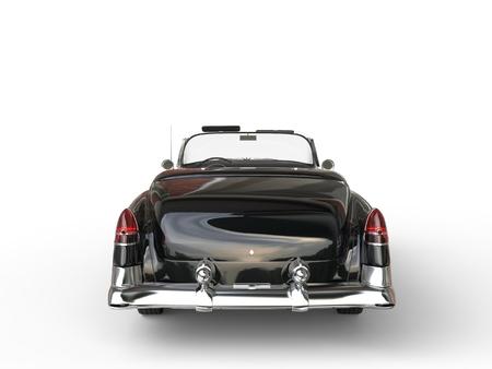 collectibles: Retro vintage black car - rear view closeup Stock Photo