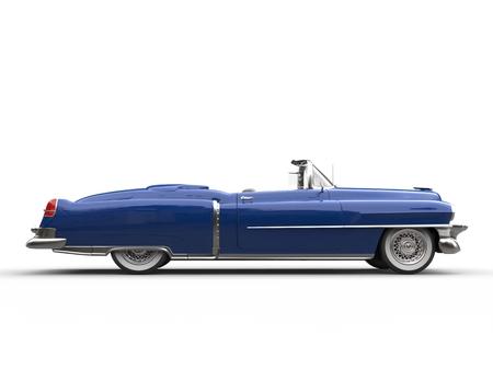 Cool blue retro vintage car - side view