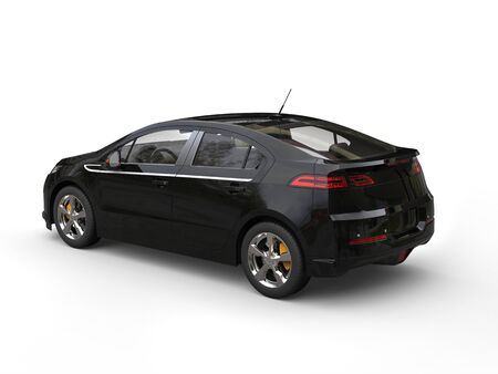 rear view: Modern electric business car - black - rear side view Stock Photo