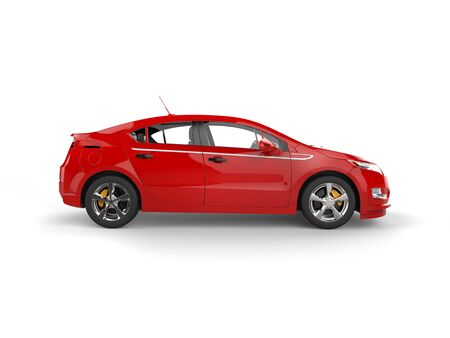 Modern business red electric car - side view Stock Photo