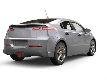 シルバー グレーのモダンなビジネス電気車 - 背面 写真素材