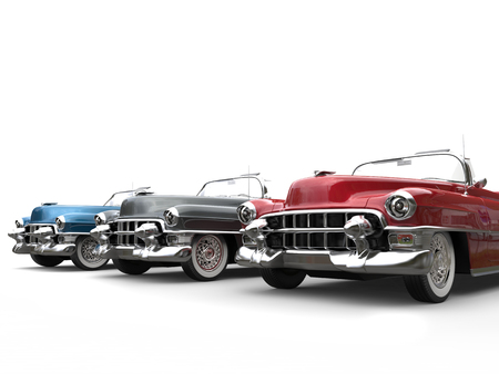 Vintage cars - front angle closeup Stock Photo