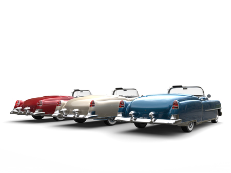 Great vintage cars - tail view