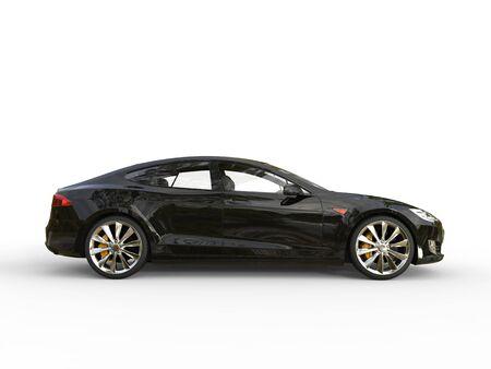 Black electric sports car - side view