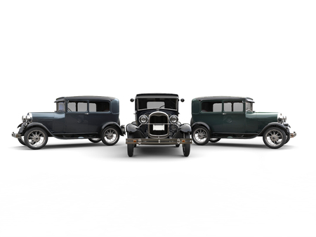 legendary: Beautiful 1920s vintage cars - studio shot
