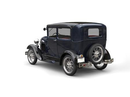 Deep blue awesome vintage 1920s car