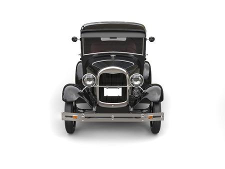 1920s cool black oldtimer car- front view