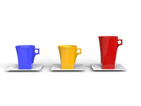 edgy: Colorful edgy coffee cups