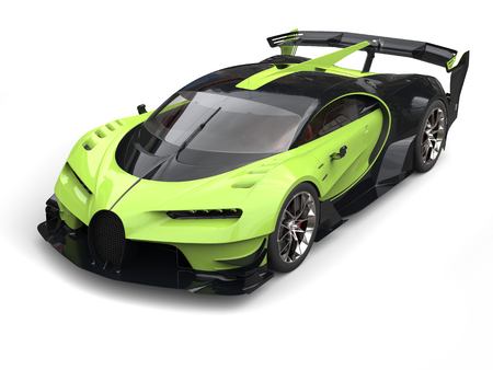 Mad green sport supercar Stock Photo