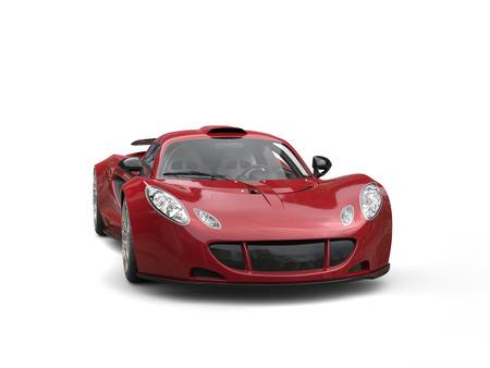 supercar: Cherry red modern supercar Stock Photo