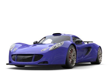 supercar: Slate blue futuristic supercar Stock Photo