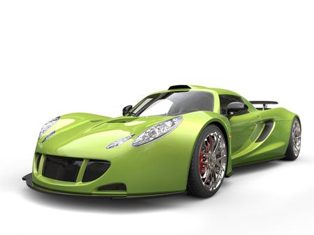 supercar: Mad green supercar