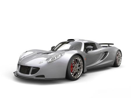 supercar: Silver concept supercar Stock Photo