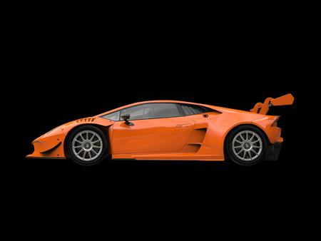 supercar: Orange red modern supercar