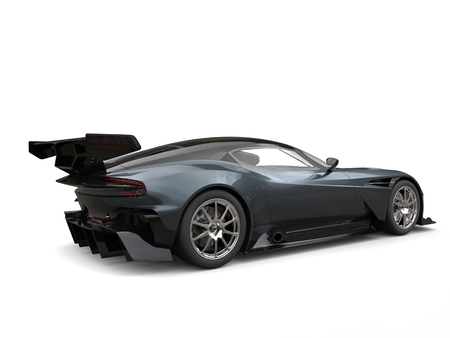 Dark gray metallic modern sports car