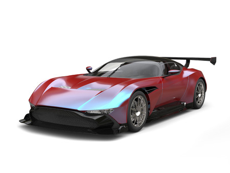 Metallic Red - blue duotone modern super race car