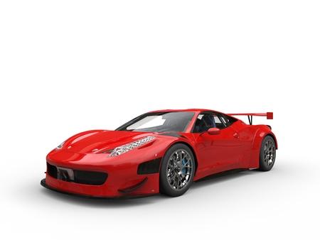 Brick red luxury super car - studio shot Stock Photo