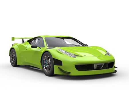 Screaming green awesome super car