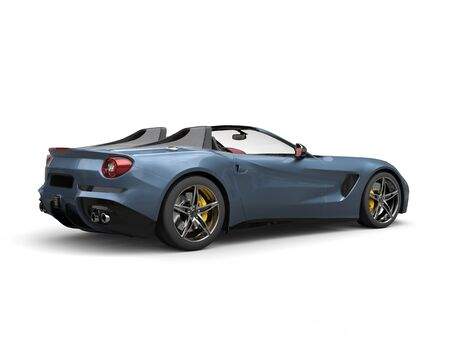 Luxury dark blue metallic sports car - studio shot