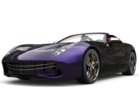 Awesome modern sports car with two tone metallic paint - purple and black Stock Photo