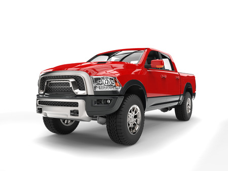 Krachtige rode moderne pick-up truck Stockfoto