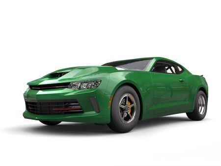 Dark green awesome muscle car