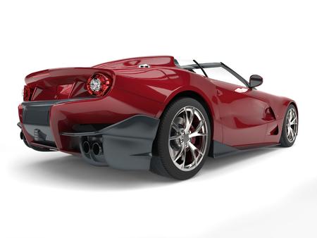 Elegant dark red modern luxury sports car