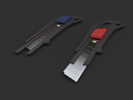 boxcutter: Safety knives with retracted snap off blades
