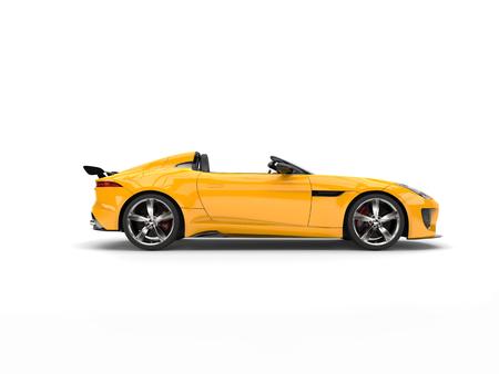 jaune voiture de sport de voiture décapotable - vue de côté
