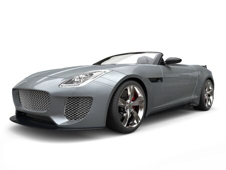 Awesome modern convertible sports car - beauty shot