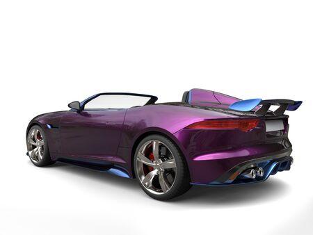 Impressive modern super sports car, metallic purple and blue paint