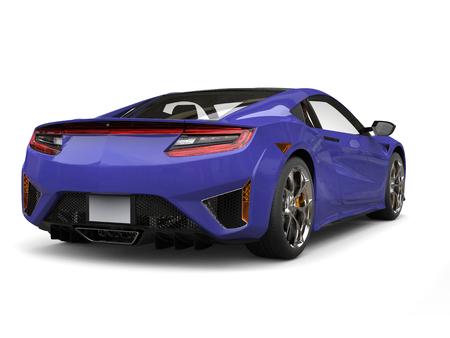 Crazy purple luxury sports car - back view Stock Photo