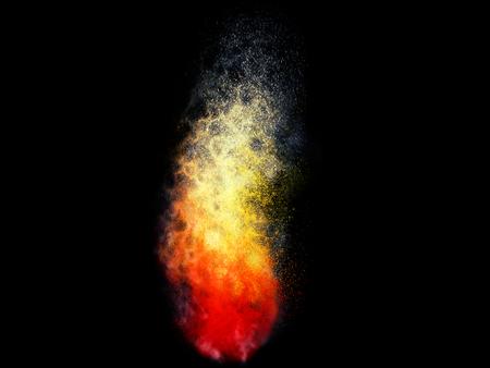 Fire dust particle explosion